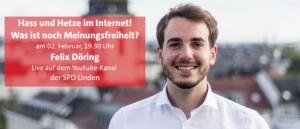 """Info-Veranstaltung mit Felix Döring """"Hass und Hetze im Internet"""""""