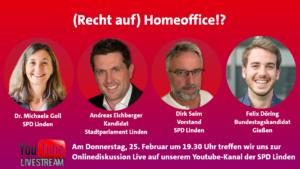 """Online-Info-Veranstaltung """"(Recht auf) Homeoffice"""""""